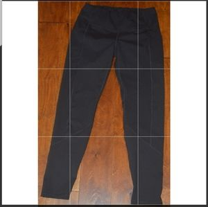 Ewedoos Black Pull On Stretch Compression Leggings